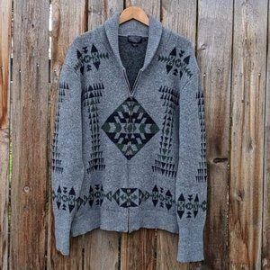 Pendleton Basket Maker Full Zip Wool Cardigan XXL